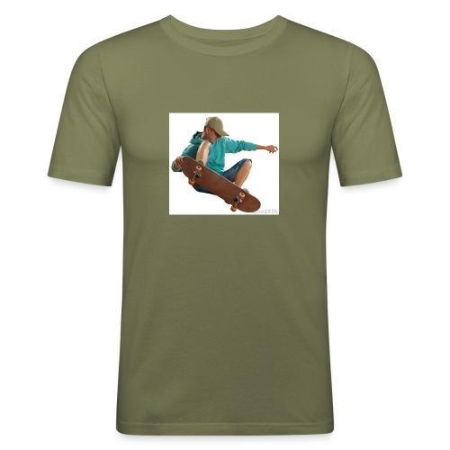 skateboardjump - Maglietta aderente da uomo