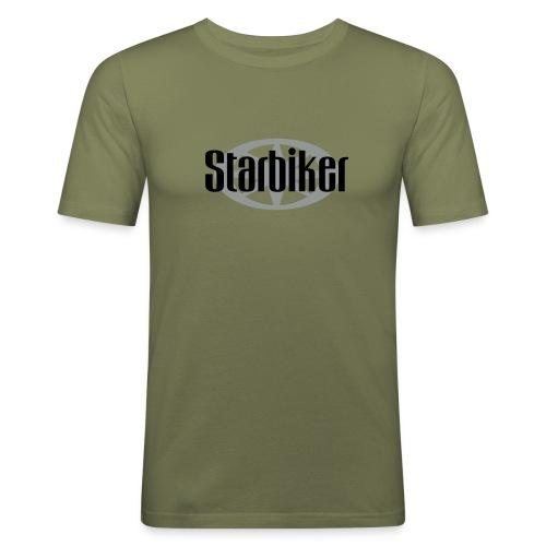 Starbikerlogo - Männer Slim Fit T-Shirt