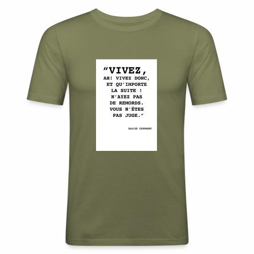 Cendrars#02 - T-shirt près du corps Homme