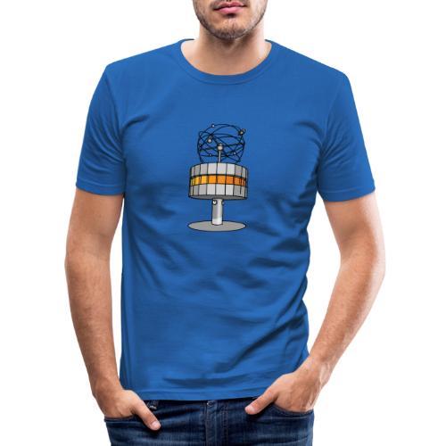 Weltzeituhr BERLIN c - Männer Slim Fit T-Shirt