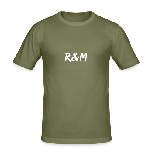 R&M Large Logo tshirt black - Men's Slim Fit T-Shirt
