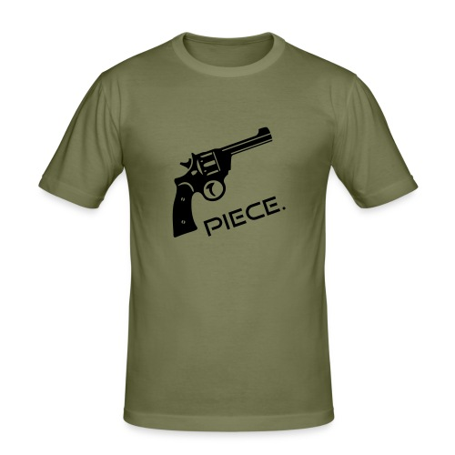 Waffe - Piece - Männer Slim Fit T-Shirt