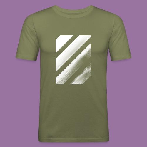 Stripes Diagonal White - Maglietta aderente da uomo