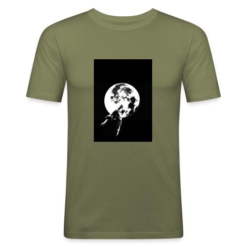 El Lobo y la Luna - Camiseta ajustada hombre
