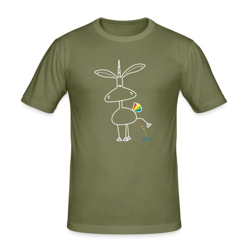 Dru - bunt pinkeln - Männer Slim Fit T-Shirt