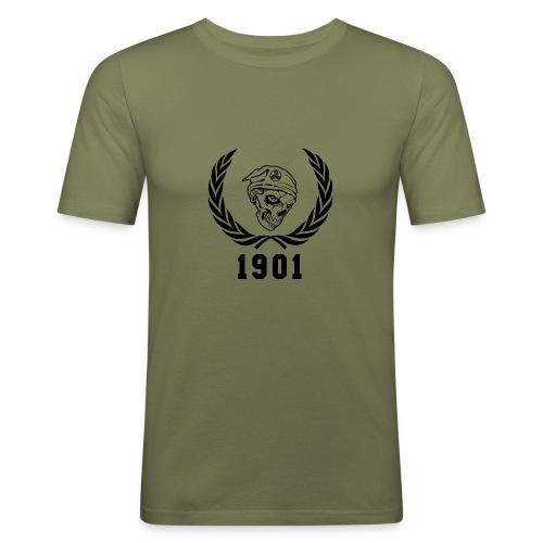 tete de mort rennes png - T-shirt près du corps Homme