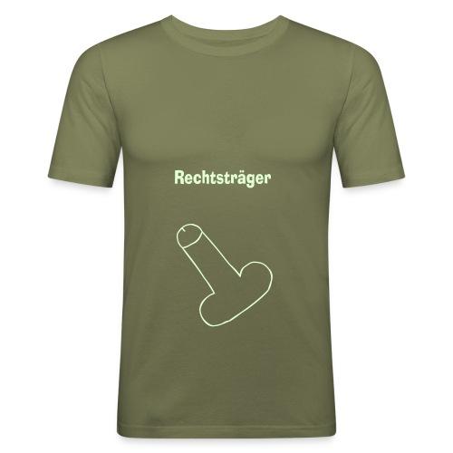 pimmel rechtstraeger final - Männer Slim Fit T-Shirt
