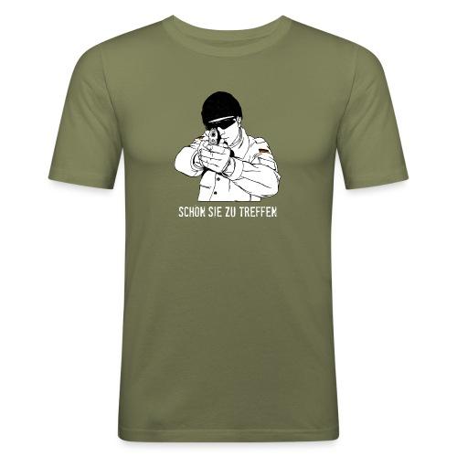 schön sie zu treffen w - Männer Slim Fit T-Shirt