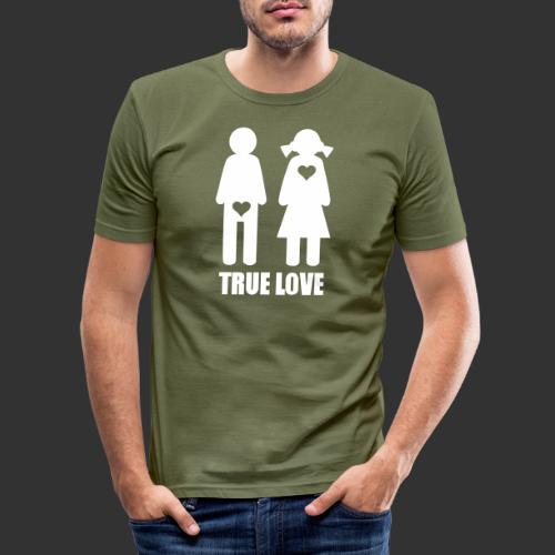 True Love - Slim Fit T-shirt herr
