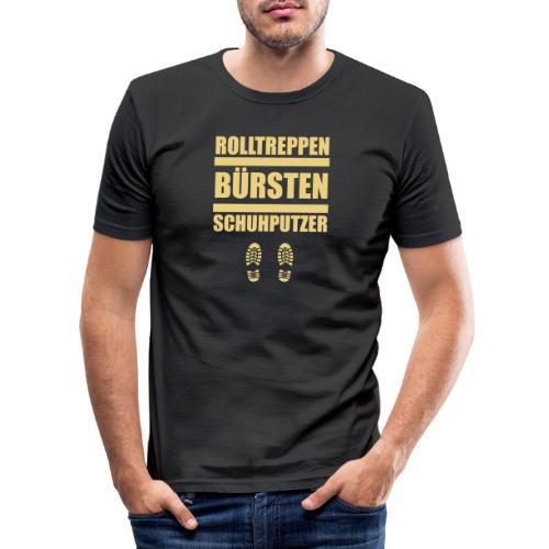 Rolltreppenbürstenschuhputzer - Männer Slim Fit T-Shirt