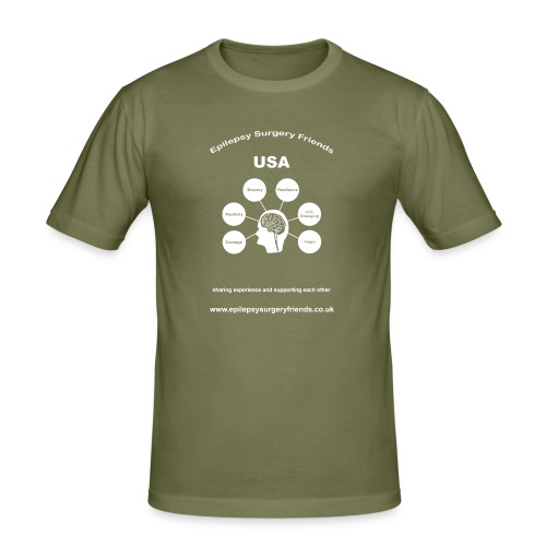 Epilepsy Surgery Friends USA - Men's Slim Fit T-Shirt