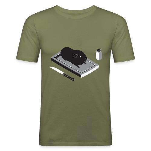 cavia1 groot - Mannen slim fit T-shirt