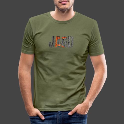 JAGD-Shirt für Jäger/innen, Motiv Drückjagdstand - Männer Slim Fit T-Shirt