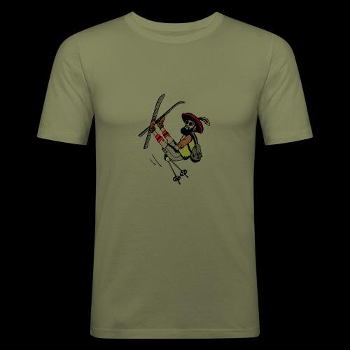 Freestyler mit Lederhosen - Maglietta aderente da uomo