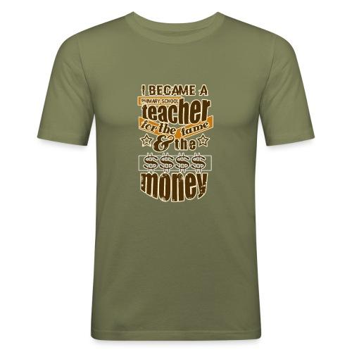 Primary school teacher t-shirt, teacher t shirt - Camiseta ajustada hombre