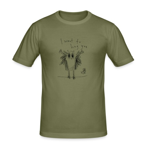 I Want To Hug You - Men's Slim Fit T-Shirt