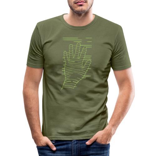 EigenHand gruen - Männer Slim Fit T-Shirt
