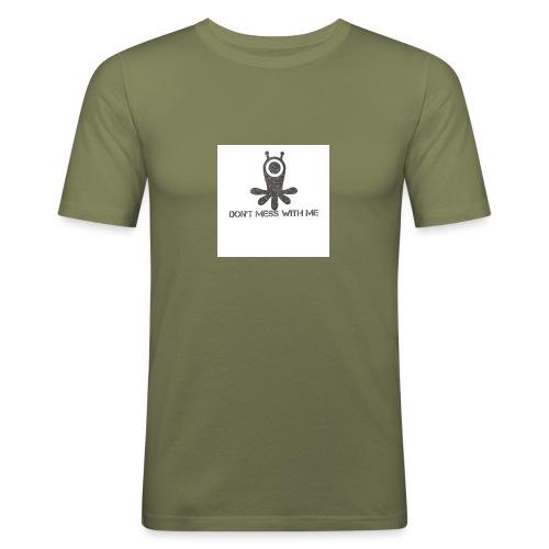 Dont mess whith me logo - Men's Slim Fit T-Shirt