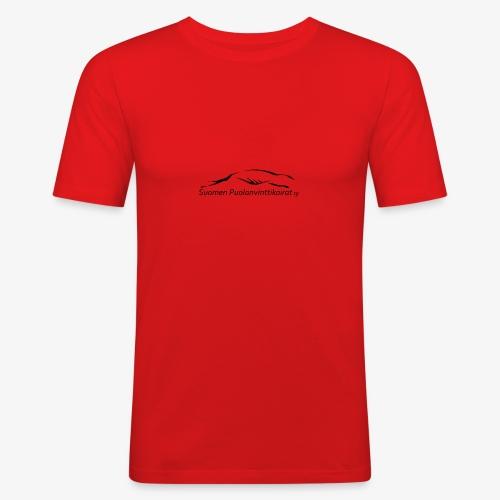 SUP logo musta - Miesten tyköistuva t-paita