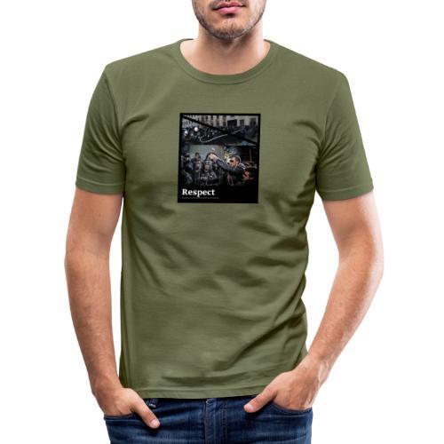 Respect - Männer Slim Fit T-Shirt