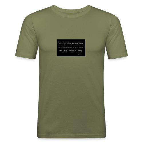 past - Mannen slim fit T-shirt