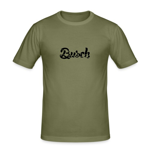 Busch shatter black - Mannen slim fit T-shirt
