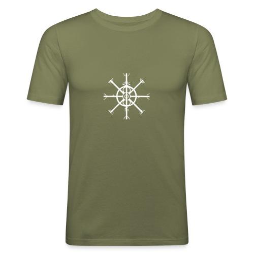 Ulfhednar Weiss - Männer Slim Fit T-Shirt