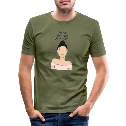 Eyes for Hisingen - Slim Fit T-shirt herr