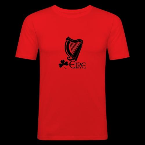 Irish Harp and Shamrock - Men's Slim Fit T-Shirt