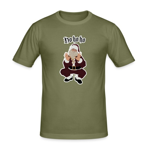 Ho ho ho - Slim Fit T-skjorte for menn