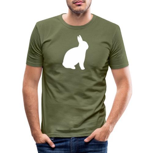 T-shirt personnalisable avec votre texte (lapin) - T-shirt près du corps Homme
