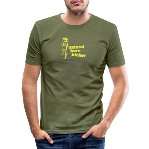 Natural born kicker (German style) - Men's Slim Fit T-Shirt
