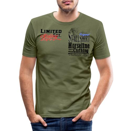 Limited Edition Stallshirt Pferde Reiten - Männer Slim Fit T-Shirt