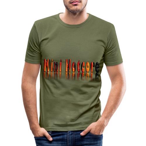 Feuriges 3D - Männer Slim Fit T-Shirt