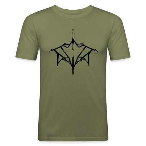 Skibike statisch - Männer Slim Fit T-Shirt