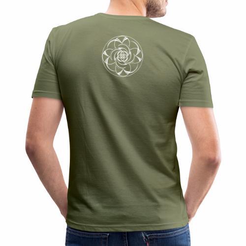Mandala Nr 2 weiss - Männer Slim Fit T-Shirt