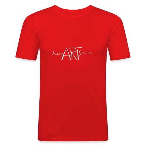 LOGO deepArtSounds Weiss Transparent gif - Men's Slim Fit T-Shirt