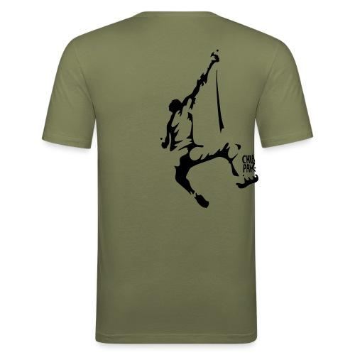fallgrimpeur1sign - T-shirt près du corps Homme