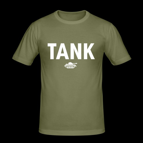 TANK DESIGN - Mannen slim fit T-shirt