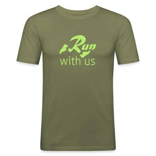 Run with us - Männer Slim Fit T-Shirt