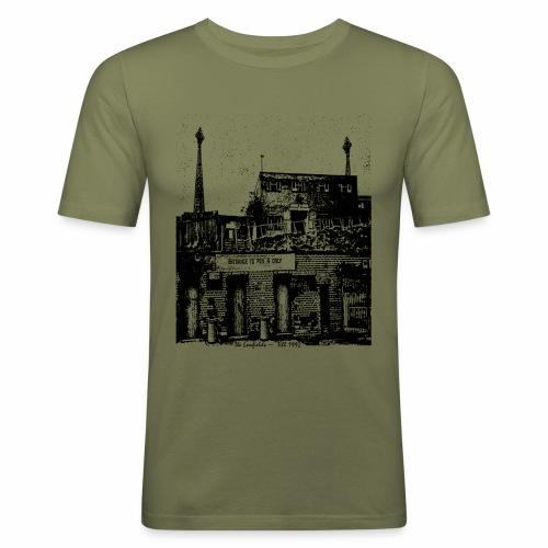 lowfieldsblack002 - Men's Slim Fit T-Shirt