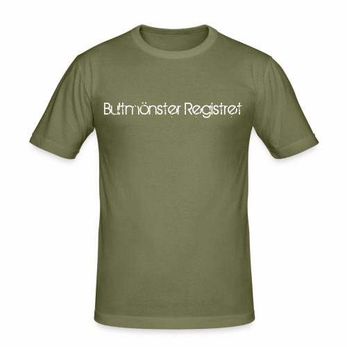 bultmoensterregistretlogo - Slim Fit T-shirt herr