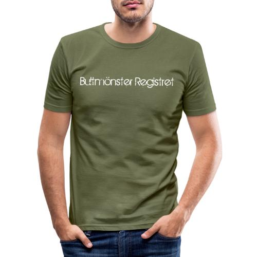 bultmoensterregistretlogo - Slim Fit T-shirt herr