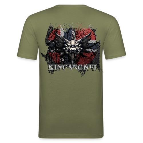 Et lite stykke norge! - Slim Fit T-skjorte for menn