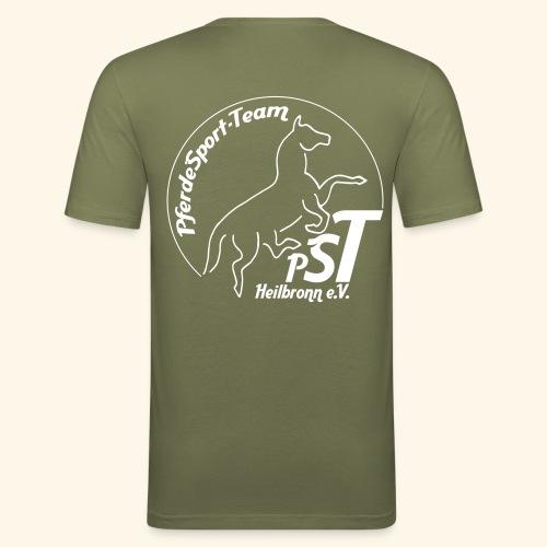 logo pst kontur - Männer Slim Fit T-Shirt