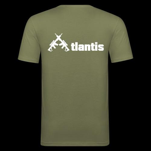 Atlants ruecken weiss - Männer Slim Fit T-Shirt