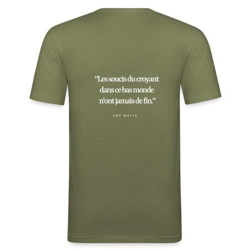 les soucis du croyant.... - T-shirt près du corps Homme