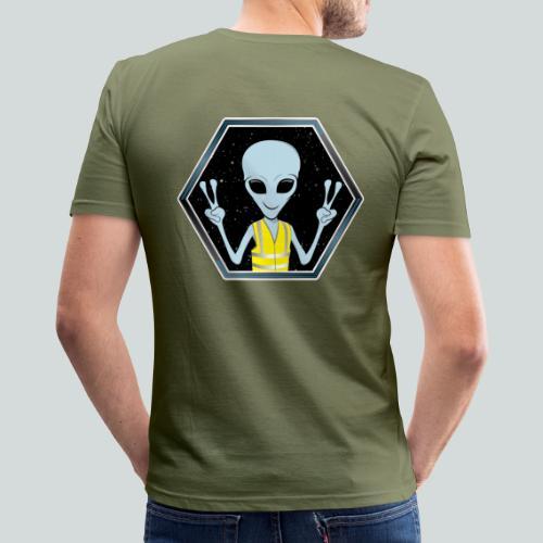 Extraterrestre Gilet jaune - T-shirt près du corps Homme