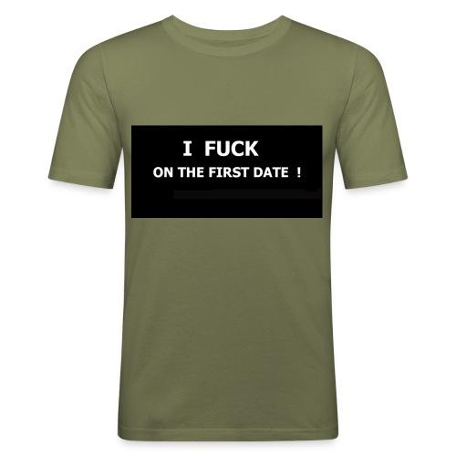 i fuck - T-shirt près du corps Homme