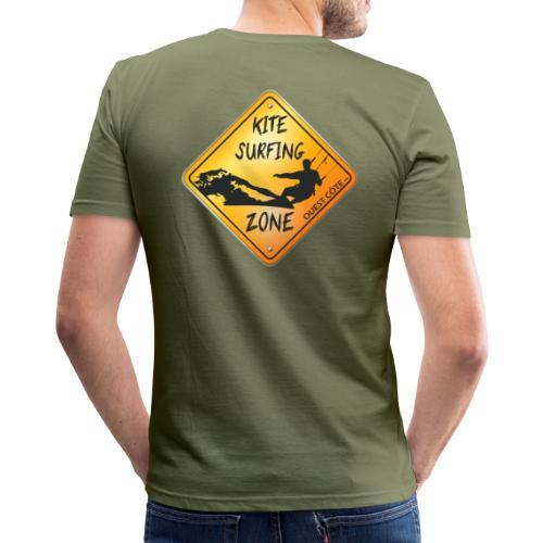 KITESURFING ZONE OUEST CÔTE - T-shirt près du corps Homme